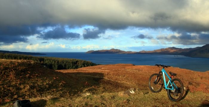 Cycling the track along Loch Sunart