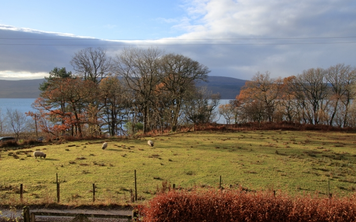 View over the Sound of Mull from the guest bedrooms
