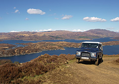 Land Rover on the Drimnin Estate