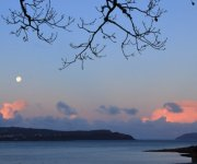 In the pink. A big moon at sunrise not a bad start to a day, with pink skies over Drimnin, Ardnamurchan and Mull
