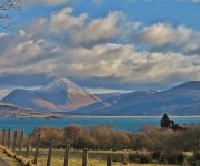 From the Drimnin road, view over Caisteal Nan Con & the mountains of Mull